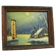 Advertising Thermometer Framed Print