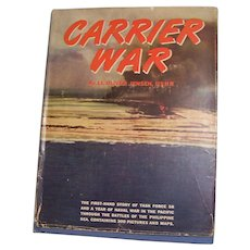 WW2 Book Carrier War by Lt Oliver Jensen 1945