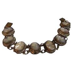 Vintage Bracelet Mother of Pearl Cameo - Red Tag Sale Item