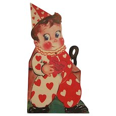 Mechanical Valentine Card Clown with Mask
