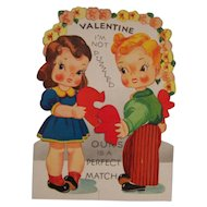 A-Meri-Card Valentine Mechanical Card Moving Arm