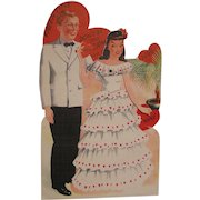 Large Mechanical Valentine Card Formal Moving Arms