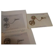 Odd Fellows Daughters of Rebekah Order Lodge Official Emblem 1950's