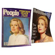 Magazines featuring Princess Grace Newsweek, People Sept 27th 1982