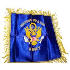 United States Army Pillow Cover Royal Blue Gold