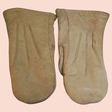Leather Lined Children Mittens