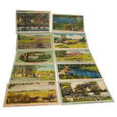NYCE Landscape Colored Postcards  Set of 12 Unused