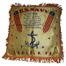 Navy Military Pillow Cover Sister