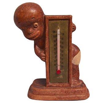 Thermometer Multi Prod. 1949 Black Americana Boy in  Diaper