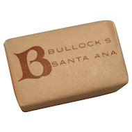 Sugar Cube Advertisement Bullock's Department Store Santa Ana