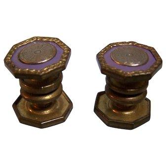 Jem Link Cufflink Violet Pair