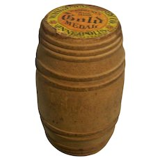 Advertising Label Washburn Crosby Gold Medal  Flour Miniature Barrel