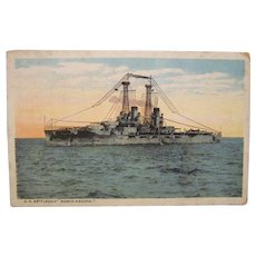 Postcard Battleship North Dakota 1928