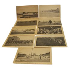 Postcard Military Fort Benjamin Harrison Training Camp 1917 set of 9