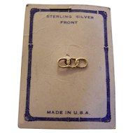 IOOF Pin Sterling Silver Front With Card