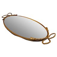 Globe Vanity Mirror  24 kt Gold Plated