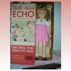 Vintage Little Miss Echo Doll Works in Box Excellent