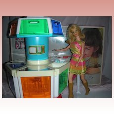 Rare Vintage Sears Exclusive Barbie Doll Karosel Kitchen Mint in Box Mod Era