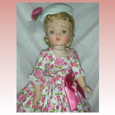 Vintage Madame Alexander Cissy Doll in Rare Day Dress