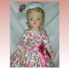 Vintage Madame Alexander Cissy Doll in Rare Day Dress