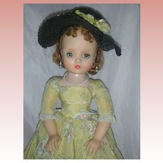 Beautiful Vintage Madame Alexander Red Hair Cissy Doll in Yellow Day Dress