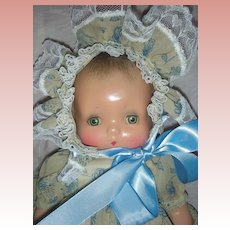 Rare Horsman Jeanie Baby Composition Doll 1930s Molded Hair