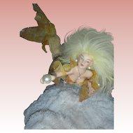 Exquisite Artist OOAK Mermaid Doll Sculpture on Coral