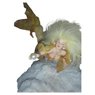 Exquisite Artist OOAK Mermaid Doll Sculpture on Coral