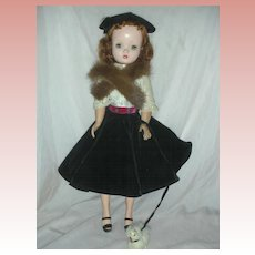 Rare Vintage Madame Alexander Cissy with Red Hair Walks her Dog Doll