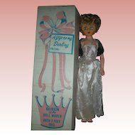 Vintage Mother of the Bride Queen of the Doll World 1950s 24 inch High Heel Fashion Doll in box