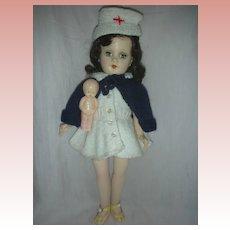Rare Vintage Mary Hoyer Doll Hard Plastic Red Cross Nurse Doll