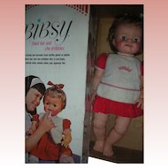Vintage Ideal Bibsy Playpal Size Doll in Box unplayed with