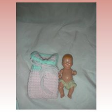 Vintage Nancy Ann Storybook Bisque Baby Doll NASB