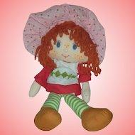 Vintage Kenner Strawberry Shortcake Rag Doll 1980s