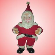 Vintage Santa Claus Doll Rubber Face Christmas Toy