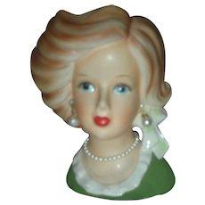 Vintage Ardco Lady Headvase Teen Head Vase Planter