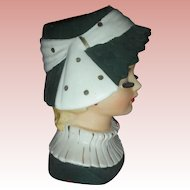 Vintage Napco Holiday Headvase Lady Head Vase Planter