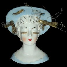 Beautiful Lady Head Vase Planter