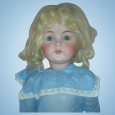 24 Inch Unmarked Bisque Head Doll with Jointed Composition Body