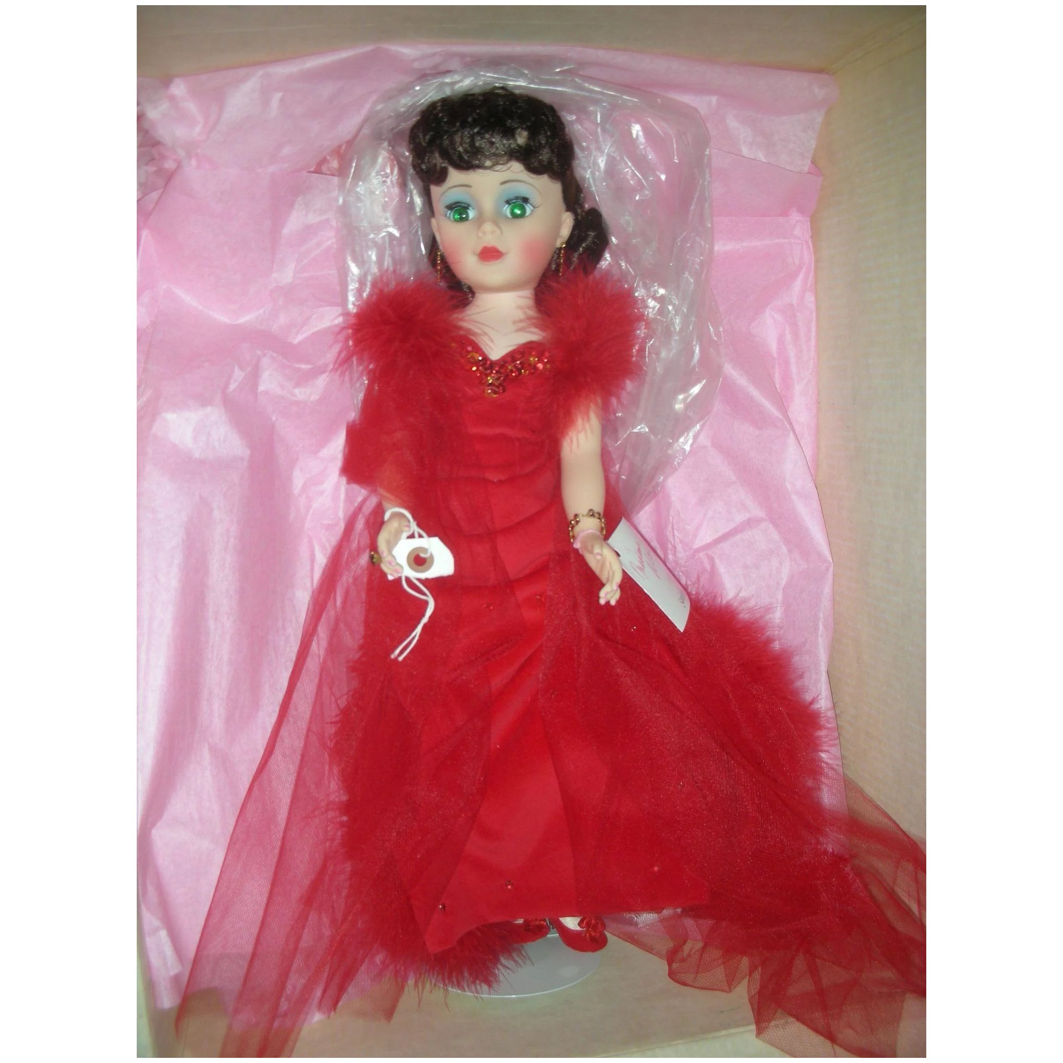 Madame AlexanderCANDY CANE CHRISTMAS DOLL ✪NEW✪ 69590 RARE RED GOWN CUTE USA