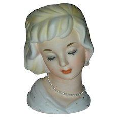 Vintage National Potteries Head Vase Planter Headvase