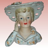 Vintage Lady Head Vase Planter Headvase