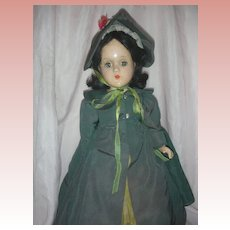Vintage Madame Alexander Scarlett O'Hara Composition Doll Circa 1939 GWTW
