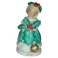 Vintage Christmas Holiday Angel Birthday Figurine December Zircon