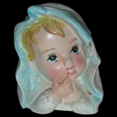 Vintage Baby Head Vase Planter Headvase
