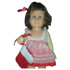 Vintage Mattel Brunette Chatty Cathy Doll with blue Eyes 1960s