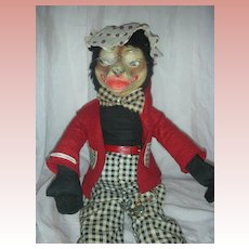 Very Rare Vintage Little Riding Hood Big Bad Wolf Stuffed Toy or Doll