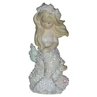 Vintage Enesco Athena Coral Kingdom Mermaid figurine
