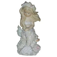 Vintage Enesco Athena Coral Kingdom Mermaid figurine