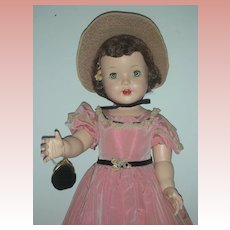 Vintage Rare Rita Paris Southern Belle Walker Doll Hard Plastic Mid Century Play Pal Doll